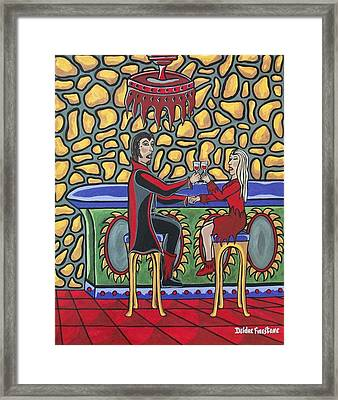 Cheers Up My Bloody Valentine Framed Print by Deidre Firestone