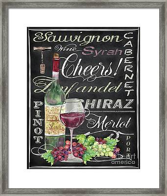 Cheers Wine Art-jp3970 Framed Print by Jean Plout
