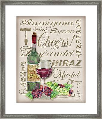 Cheers Wine Art-jp3971 Framed Print by Jean Plout