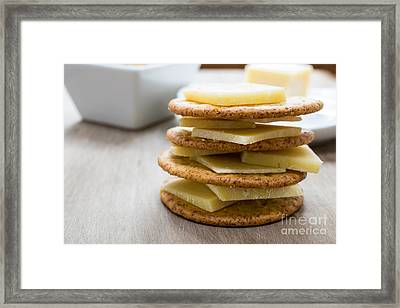 Eat Free Framed Print featuring the photograph Cheese And Crackers by Edward Fielding