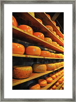 Cheese In Holland Framed Print by Harry Spitz