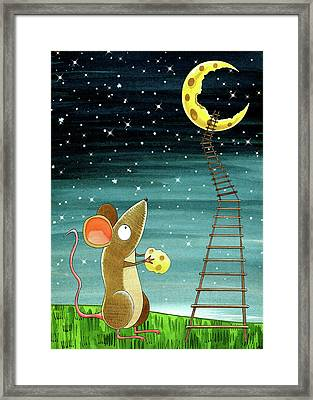 Cheese Moon  Framed Print by Andrew Hitchen