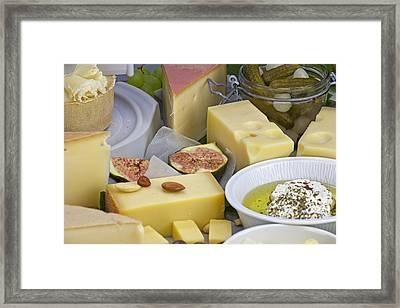Cheese Plate Framed Print by Joana Kruse