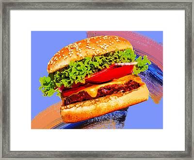 Cheeseburger Framed Print by Dominic Piperata