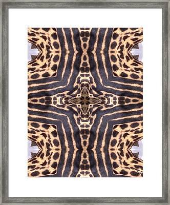 Cheetah Cross Framed Print by Maria Watt
