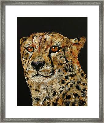 Cheetah Framed Print by Michael Creese