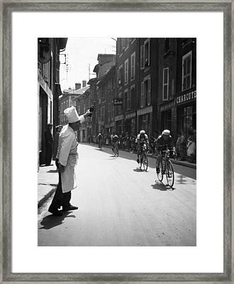 Chef Toasts Tour Framed Print by Bert Hardy