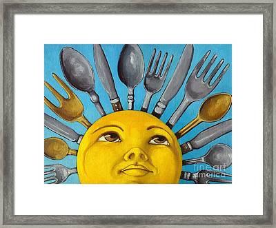 Chefs Delight - Cbs Sunday Morning Sun Art  Framed Print by Linda Apple
