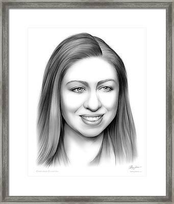 Chelsea Clinton Framed Print by Greg Joens
