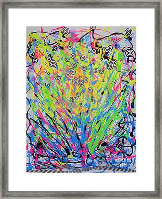 Chemical Reaction Framed Print by Elizabeth Armstrong