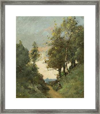 Chemin Creux A Quimper Framed Print by MotionAge Designs