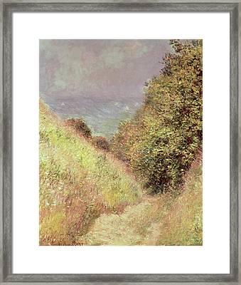 Chemin De La Cavee Pourville Framed Print by Claude Monet