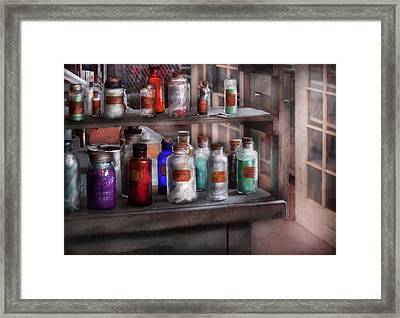 Chemistry - Ready To Experiment  Framed Print by Mike Savad