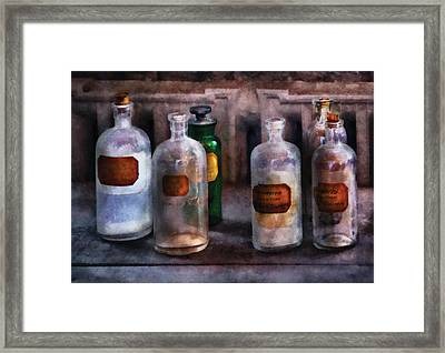 Chemistry - Saturated Solutions Framed Print by Mike Savad
