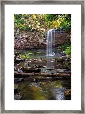 Cherokee Falls - Cloudland State Park Georgia Framed Print by Brian Harig