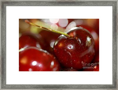 Cherries  Framed Print by A New Focus Photography