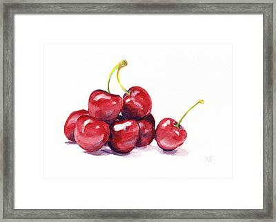 Cherries Framed Print by Michelle Sheppard