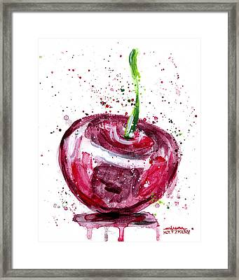 Cherry 1 Framed Print by Arleana Holtzmann