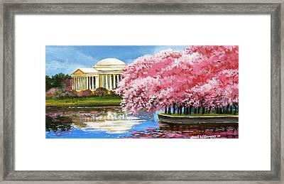 Cherry Blossom Festival Framed Print by Sarah Grangier