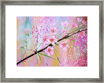 Cherry Blossoms Art Framed Print by Lourry Legarde