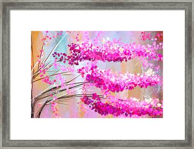 Cherry Blossoms Impressionist Framed Print by Lourry Legarde