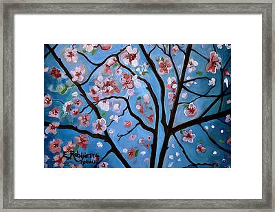 Cherry Blossoms In Bloom Framed Print by Elizabeth Robinette Tyndall