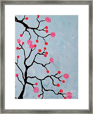 Cherry Blossoms Framed Print by Jilian Cramb - AMothersFineArt