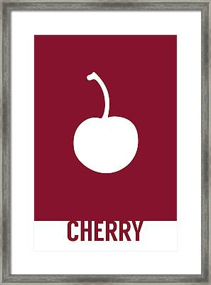 Cherry Food Art Minimalist Fruit Poster Series 013 Framed Print by Design Turnpike