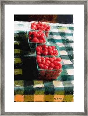 Cherry Tomato Basket Framed Print by RG McMahon