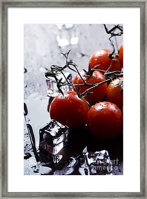 Cherry Tomatoes Framed Print by Jelena Jovanovic
