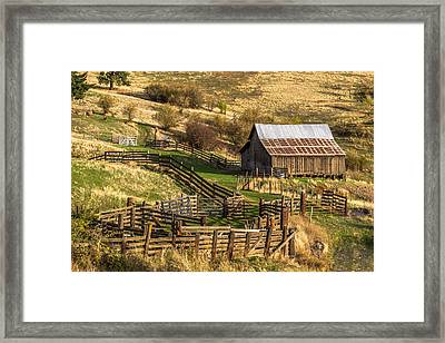 Cherrylane Barn Framed Print by Brad Stinson