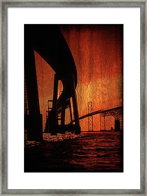Chesapeake Bay Bridge Artistic Framed Print by Skip Willits