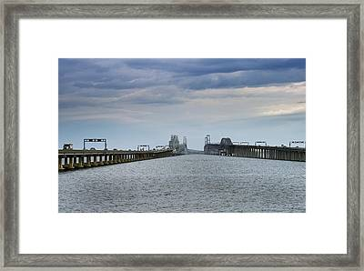 Chesapeake Bay Bridge Maryland Framed Print by Brendan Reals
