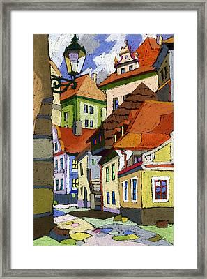 Chesky Krumlov Masna Street 1 Framed Print by Yuriy  Shevchuk