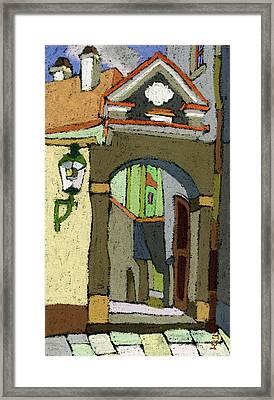 Chesky Krumlov Old Street Latran  Framed Print by Yuriy  Shevchuk