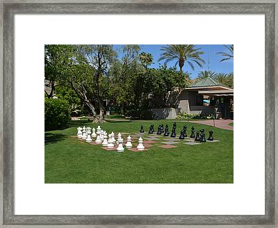 Chess At The Biltmore Framed Print by Aimee L Maher Photography and Art Visit ALMGallerydotcom