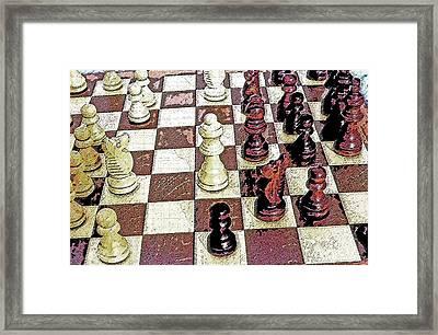 Chess Board - Game In Progress 1 Framed Print by Steve Ohlsen