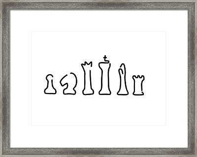 Chess Figures Framed Print by Lineamentum