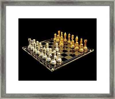 Chess Framed Print by Michael Peychich