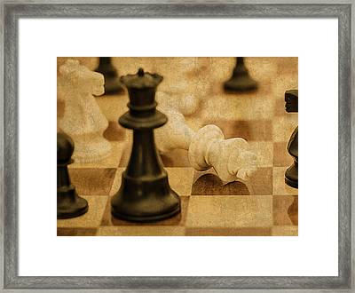 Chess Pieces On Board Framed Print by Design Turnpike
