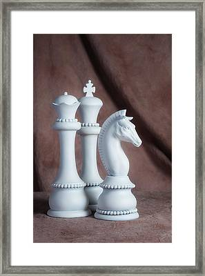 Chessmen Iv Framed Print by Tom Mc Nemar
