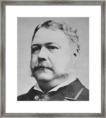 Chester Arthur  Framed Print by American School