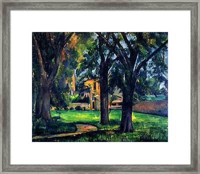 Chestnut Tree And Farm Framed Print by Paul Cezanne