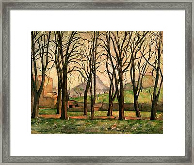 Chestnut Trees At The Jas De Bouffan Framed Print by Paul Cezanne