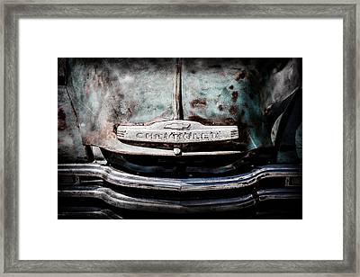 Chevrolet Truck Grille Emblem -0839ac1 Framed Print by Jill Reger