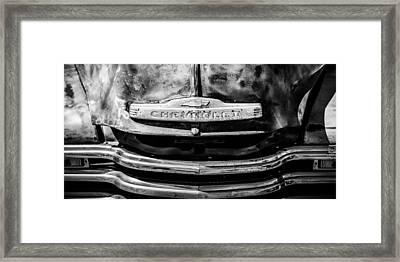 Chevrolet Truck Grille Emblem -0839bw2 Framed Print by Jill Reger