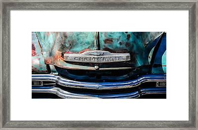 Chevrolet Truck Grille Emblem -0839c2 Framed Print by Jill Reger