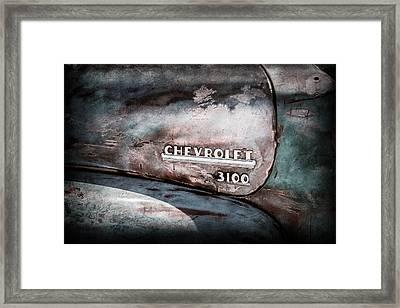 Chevrolet Truck Side Emblem -0842ac1 Framed Print by Jill Reger