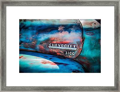 Chevrolet Truck Side Emblem -0842c1 Framed Print by Jill Reger