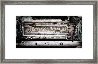 Chevrolet Truck Tail Gate Emblem -0839ac Framed Print by Jill Reger